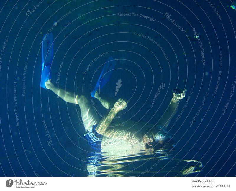 Auf dem Wasser liegend fotografieren geht doch Mensch Ferien & Urlaub & Reisen Sommer rot Erwachsene Sport Spielen braun Schwimmen & Baden Zufriedenheit