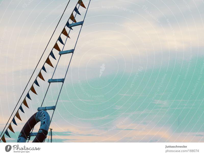 Sommer in Kroatien Himmel blau Sonne Ferien & Urlaub & Reisen Meer Einsamkeit ruhig Ferne Freiheit träumen Ausflug Seil Tourismus Fahne Sehnsucht