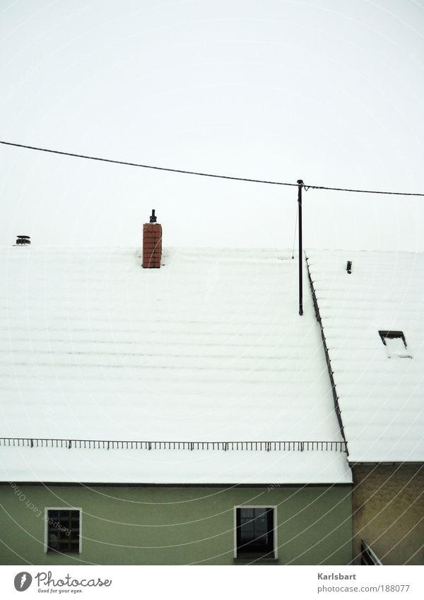 über den dächern von. schnee. Himmel Natur weiß Ferien & Urlaub & Reisen Winter ruhig Haus kalt Schnee Fenster Wetter Wohnung Design Energiewirtschaft Klima Elektrizität