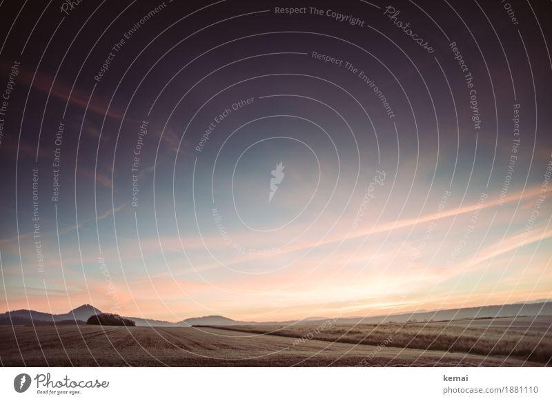 Im Osten geht die Sonne auf. Gleich. harmonisch Wohlgefühl Sinnesorgane Erholung ruhig Abenteuer Ferne Freiheit Umwelt Natur Landschaft Himmel Wolken