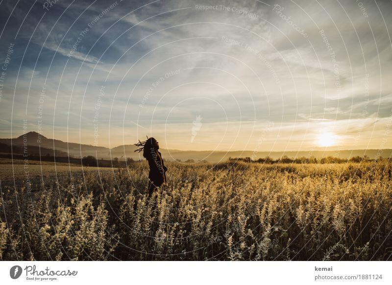 Im Wind Lifestyle harmonisch Wohlgefühl Zufriedenheit Sinnesorgane Erholung ruhig Meditation Freizeit & Hobby Abenteuer Ferne Freiheit Mensch feminin 1