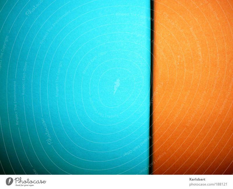 phainómenon. blau Wand Spielen Mauer Linie Kunst orange Freizeit & Hobby Fassade Design Papier Lifestyle Ecke Häusliches Leben Streifen Druckerzeugnisse