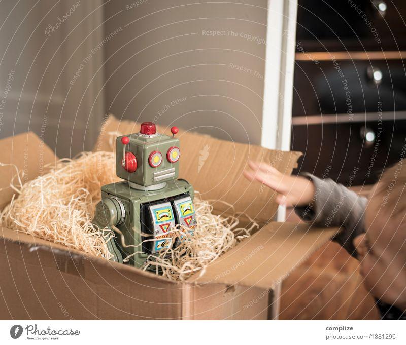 1 Geschenk Roboter Weihnachten & Advent Geburtstag Kleinkind Baby Weihnachtsgeschenk Geburtstagsgeschenk schenken Kasten Kiste Pappschachtel packen Spielzeug