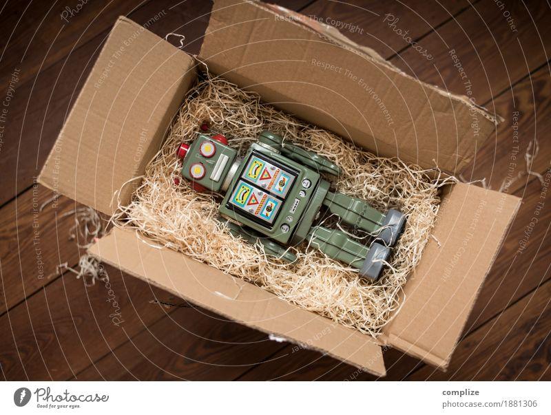 Sehenswürdig Handel Güterverkehr & Logistik Medienbranche Post Technik & Technologie Fortschritt Zukunft High-Tech historisch Verlässlichkeit Roboter Geschenk