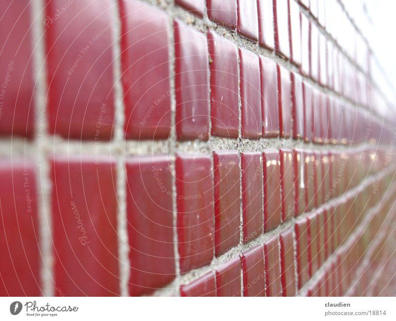 mosaik rot Linie Unendlichkeit Fliesen u. Kacheln Quadrat kariert Fuge Rechteck Mosaik Fluchtpunkt