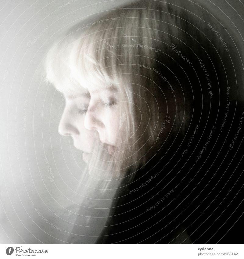 Doppel Meditation Mensch Frau Erwachsene Gesicht 18-30 Jahre Jugendliche Bewegung einzigartig entdecken Freiheit Gefühle geheimnisvoll Identität Leben