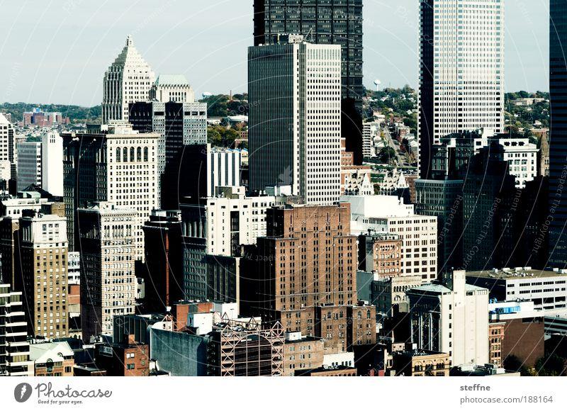 Die 2 Türme Stadt Haus Fenster Business Wohnung groß Hochhaus Fassade Menschenleer ästhetisch USA Tourismus Bankgebäude Häusliches Leben Gebäude