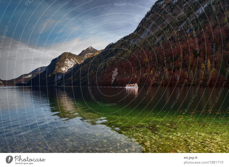 Seereise Himmel Natur Ferien & Urlaub & Reisen Wasser Landschaft Erholung Ferne Wald Berge u. Gebirge Herbst Deutschland Tourismus Freizeit & Hobby Ausflug