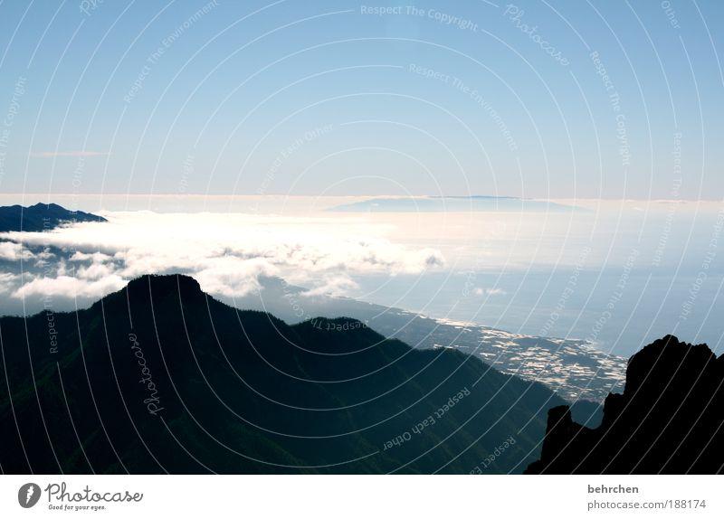 dem himmel so nah Ferien & Urlaub & Reisen Tourismus Ausflug Ferne Freiheit Meer Natur Landschaft Himmel Wolken Berge u. Gebirge Gipfel Küste Insel La Palma