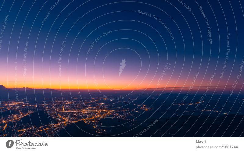 Salzburg Landschaft Sonnenaufgang Sonnenuntergang Alpen Berge u. Gebirge Stadt Hauptstadt Altstadt Tourismus Gaisberg Farbfoto mehrfarbig Außenaufnahme