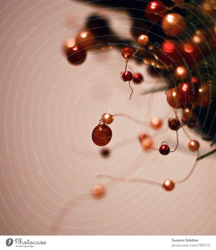 Kullern rot Weihnachten & Advent Stern glänzend rosa rund Kitsch Dekoration & Verzierung Blumenstrauß Perle Sammlung Draht harmonisch Feste & Feiern Lounge