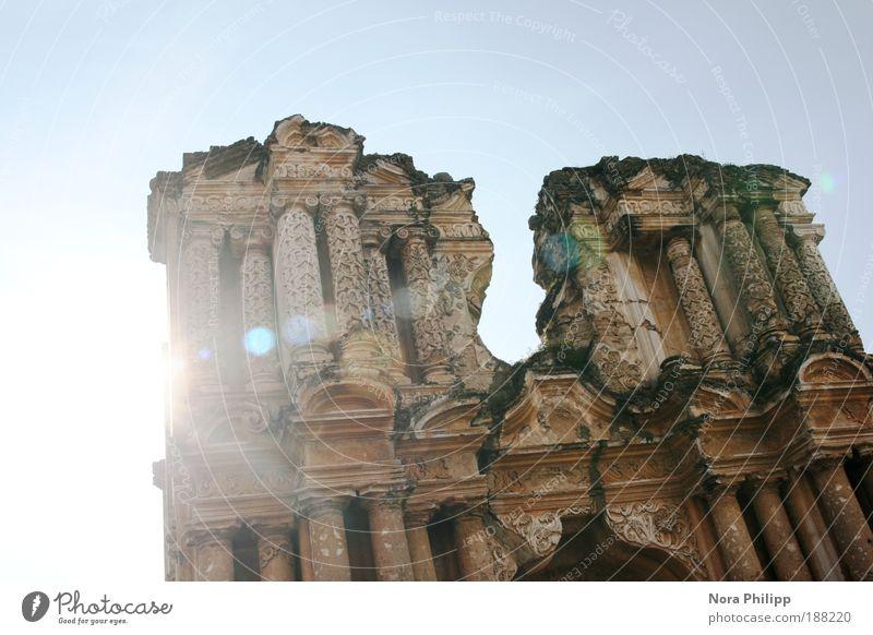 Die beleidigte Kathedrale Ferien & Urlaub & Reisen Sightseeing Städtereise Himmel Sonne Sonnenlicht Antigua Guatemala Mittelamerika Altstadt Kirche