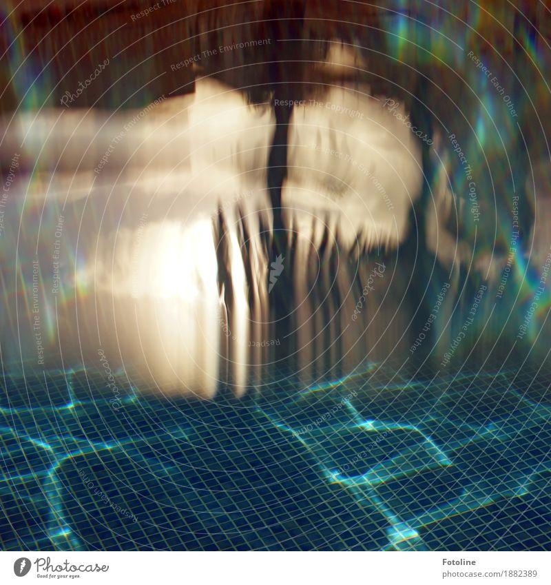 Traumwelt Umwelt Natur Urelemente Wasser Sommer Schönes Wetter kalt maritim nass blau braun grün Schwimmbad Fliesen u. Kacheln Mosaik Farbfoto mehrfarbig