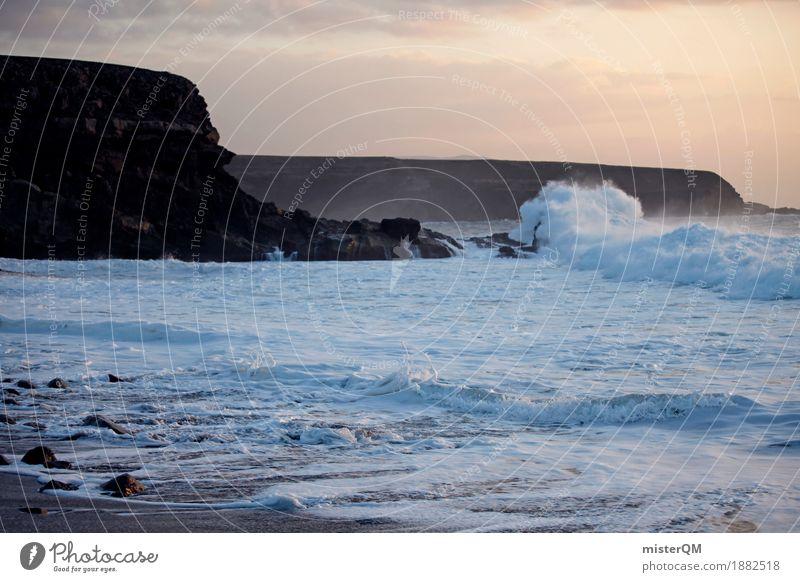 Ocean meets Küste II Kunst ästhetisch Natur Urelemente Meer Meerwasser toben sprudelnd Urlaubsfoto Berge u. Gebirge Klippe Wellen Wellengang Wellenform
