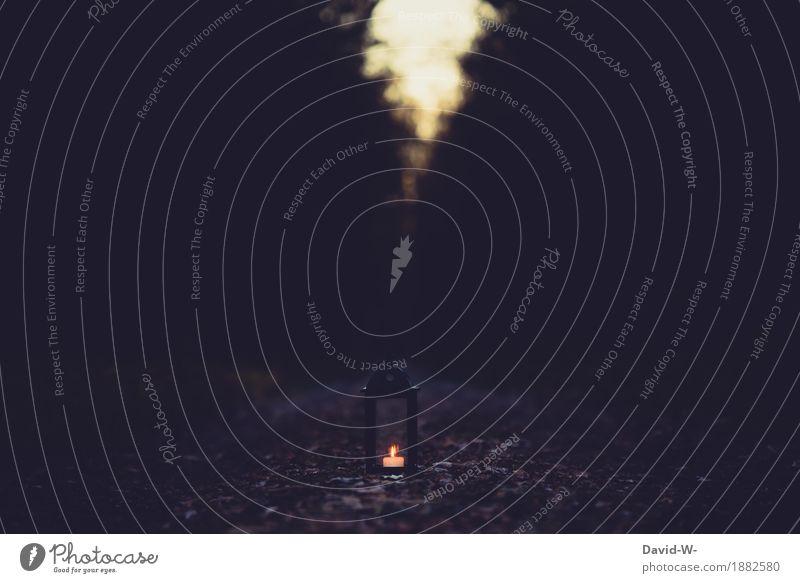 candle in the dark Kunst Kunstwerk Gemälde Umwelt Natur Herbst Winter Klima Klimawandel schlechtes Wetter Unwetter Baum Wald leuchten kalt Krieg träumen