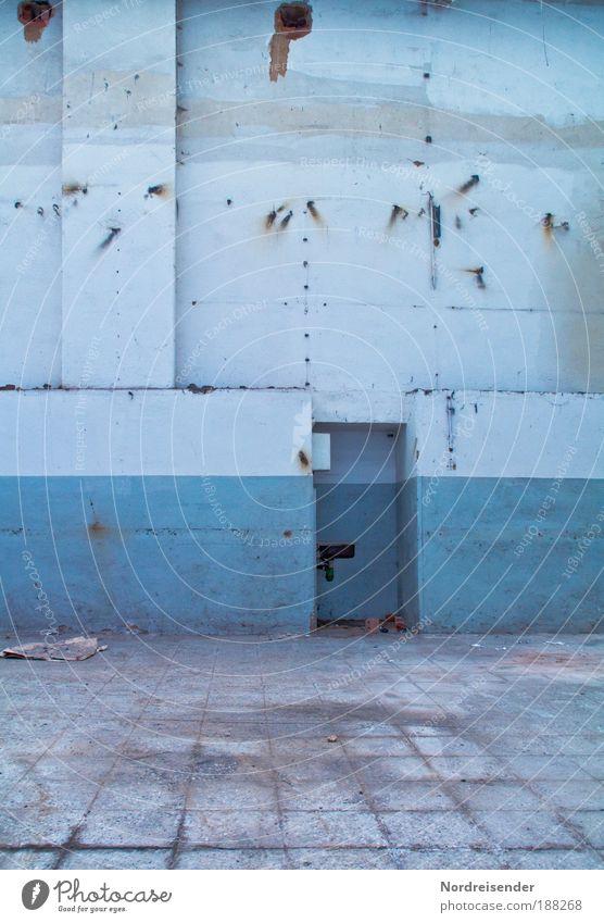 Leer Haus Renovieren Innenarchitektur Arbeit & Erwerbstätigkeit Beruf Handwerker Arbeitsplatz Fabrik Industrie Arbeitslosigkeit Gebäude Mauer Wand alt