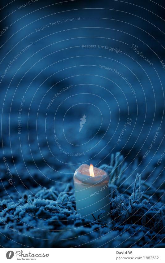 ein Licht im dunkeln schön Nachtleben Weihnachten & Advent Silvester u. Neujahr Kunst Umwelt Natur Landschaft Winter Schönes Wetter schlechtes Wetter Eis Frost