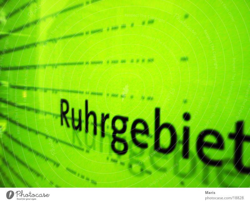 Ruhrgebiet Schilder & Markierungen Industrie Nordrhein-Westfalen