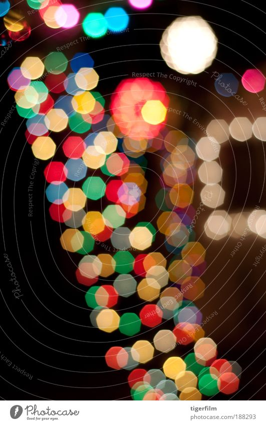 Baumfest Nachtleben Entertainment Veranstaltung Feste & Feiern Silvester u. Neujahr Haus Fenster glänzend hängen Häusliches Leben mehrfarbig verschwenden