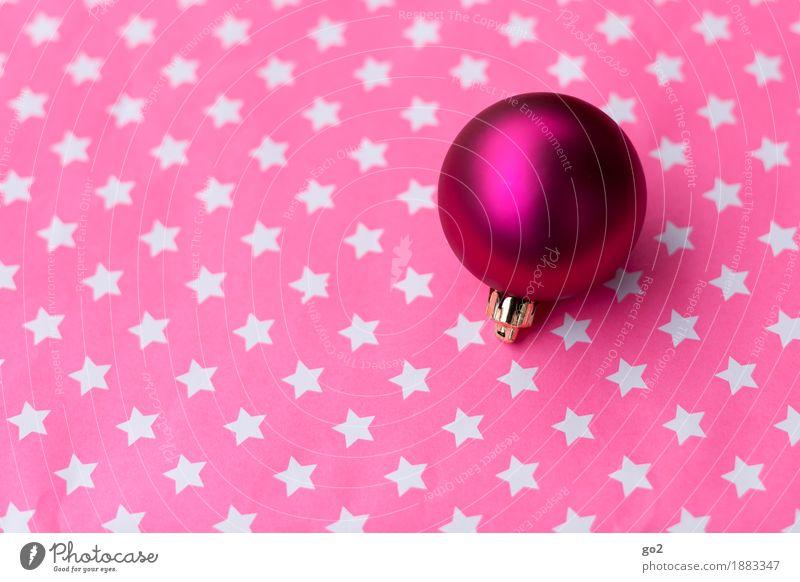 Kugel und Sternchen Weihnachten & Advent Dekoration & Verzierung Kitsch Krimskrams Stern (Symbol) ästhetisch rund violett rosa Vorfreude Weihnachtsdekoration