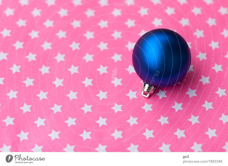 Sternchen und Kugel Weihnachten & Advent Dekoration & Verzierung Kitsch Krimskrams Stern (Symbol) ästhetisch rund blau rosa Vorfreude Weihnachtsdekoration