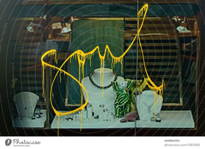 Soul Farbe Fenster Graffiti Gefühle Textfreiraum Schriftzeichen Werbung Werbebranche Schmuck Seele taggen Schaufenster Vandalismus beschmiert Juwelier