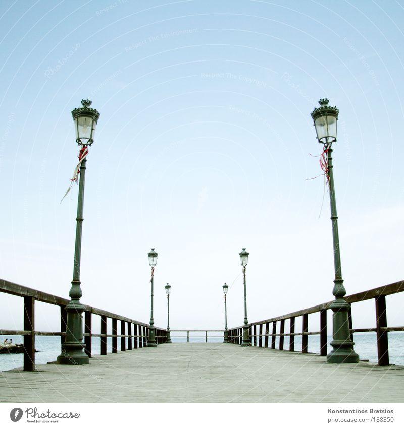 bis später am Steg Himmel Ferien & Urlaub & Reisen schön Sommer Erholung Meer ruhig Leben Gefühle Zufriedenheit authentisch einfach Schönes Wetter Romantik