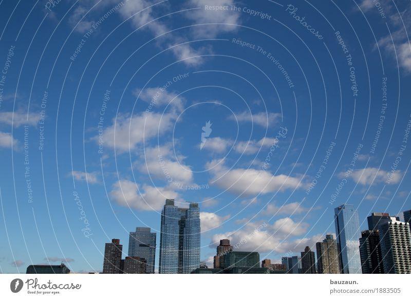 der himmel über nyc. Tourismus Ferne Freiheit Sightseeing Städtereise Himmel Wolken Sonne Klima Wetter Schönes Wetter New York City USA Amerika Stadt