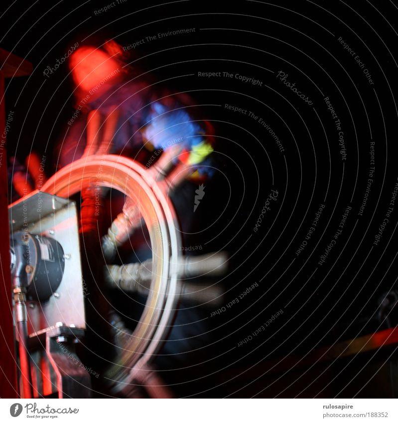 Spin the wheel Mensch Ferien & Urlaub & Reisen Wasser Meer rot Ferne dunkel schwarz Freiheit maskulin Wind Klima Ostsee Richtung Schifffahrt Segeln