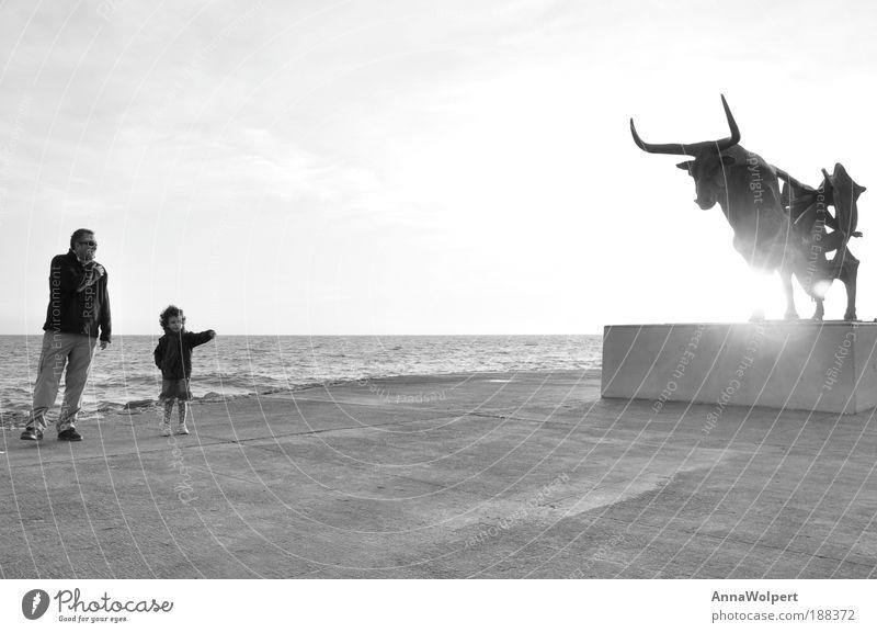 Vilanova Playa Kind Mann Ferien & Urlaub & Reisen Sonne Mädchen Sommer Meer Strand Erwachsene Ferne Senior Freiheit Glück Familie & Verwandtschaft Kindheit