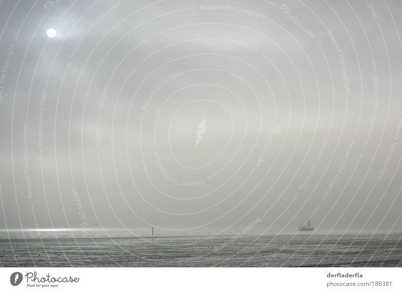 Sonne Wasser Himmel Meer Winter Strand Wolken Einsamkeit Herbst Gefühle grau Küste Wind Horizont ästhetisch Unendlichkeit