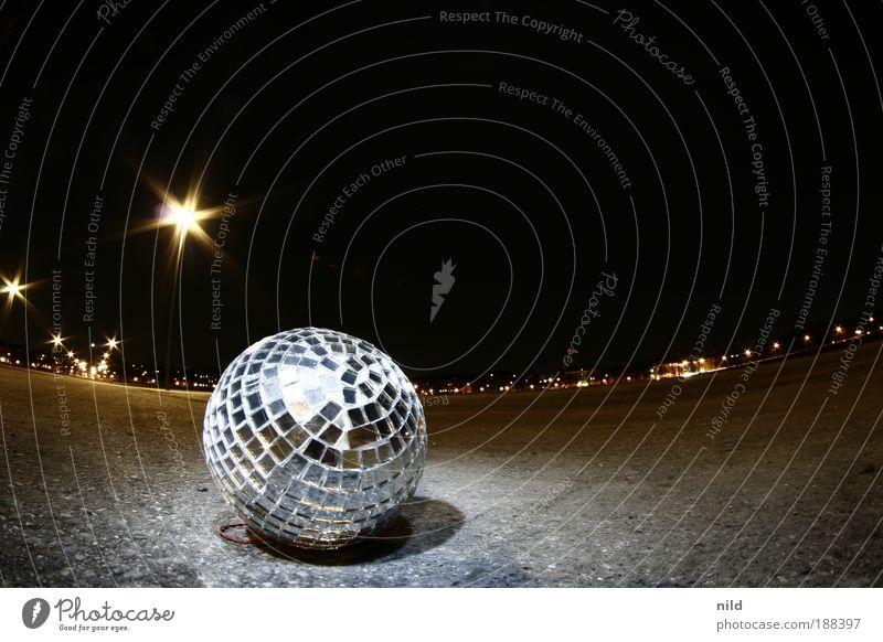 OpenAirDisco Nacht Party Gastronomie Feste & Feiern Tanzen Farbe Glas Dekoration & Verzierung Disco Spiegel München Club Veranstaltung silber Gegenteil Entertainment