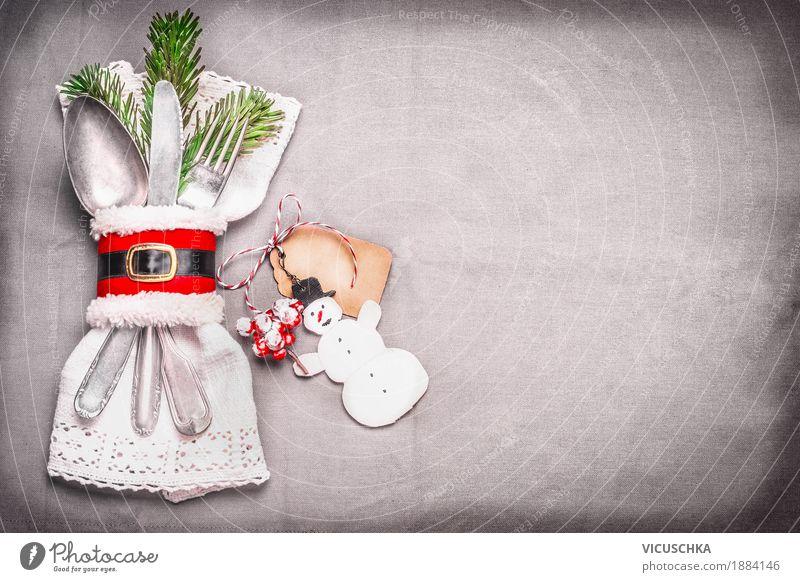 Tischdekoration für Weihnachtsdinner Weihnachten & Advent Freude Speise Essen Stil Feste & Feiern Party Stimmung Design Wohnung Häusliches Leben