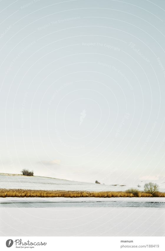 Ruh'gebiet Natur Wasser Himmel Winter ruhig Einsamkeit Ferne kalt Schnee Erholung Landschaft Eis hell Horizont Frost Idylle