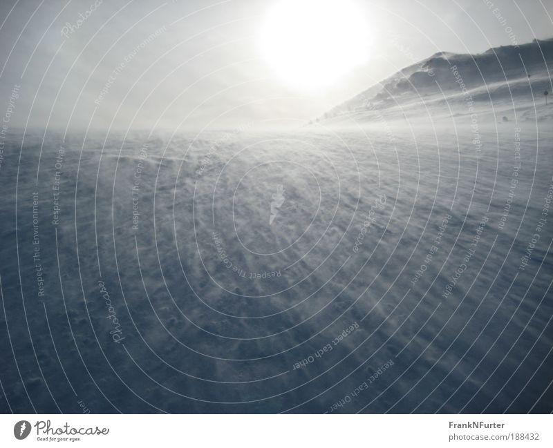 Strange Ocean Umwelt Natur Landschaft Urelemente Himmel Sonne Winter schlechtes Wetter Wind Sturm Eis Frost Schnee Alpen Berge u. Gebirge Schneebedeckte Gipfel