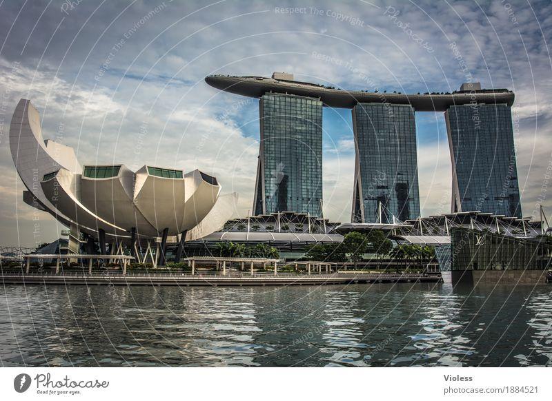 Singapur III Hauptstadt Skyline Hochhaus Hotel Turm Bauwerk Gebäude Architektur Sehenswürdigkeit Singapore Jachthafen Stadt Großstadt Ferien & Urlaub & Reisen
