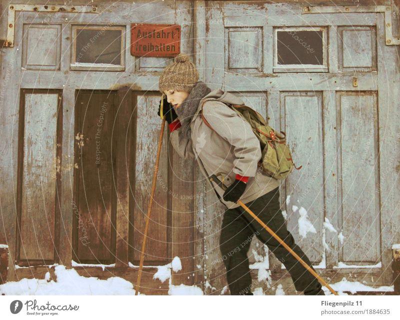 Winter Stil sportlich Freizeit & Hobby Ferien & Urlaub & Reisen Schnee Winterurlaub wandern Sport Wintersport Skifahren feminin Frau Erwachsene 1 Mensch
