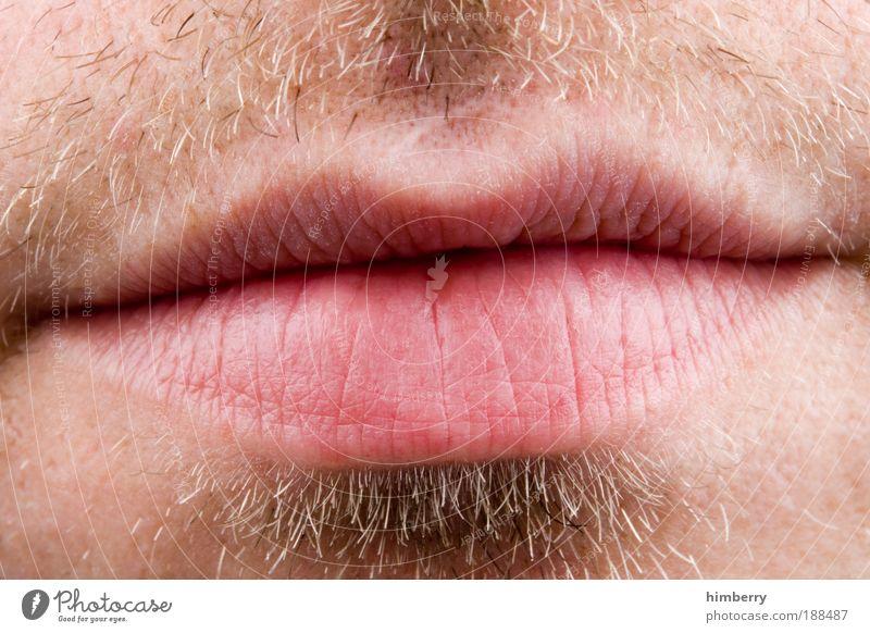 read my lips Mensch Jugendliche Mann Junger Mann Erwachsene Leben Haare & Frisuren Stil Haut Lifestyle Mund Lippen Küssen Redewendung Kussmund Dreitagebart