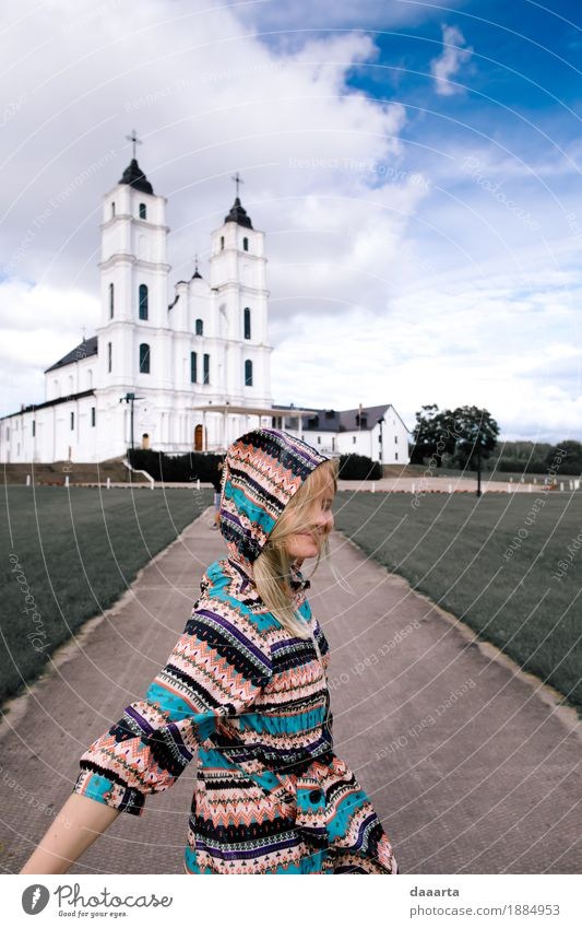 glücklich in latgale Ferien & Urlaub & Reisen Sommer schön Freude Leben Lifestyle feminin Stil Spielen Freiheit Stimmung wild Freizeit & Hobby Ausflug Kirche