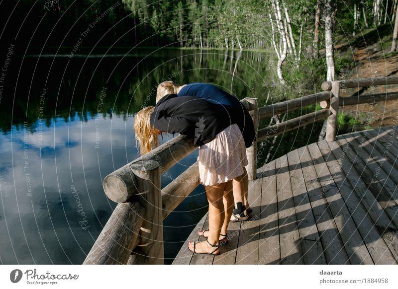 Natur Ferien & Urlaub & Reisen Sommer Wasser Landschaft Freude Leben Küste feminin Spielen Garten Freiheit See Tourismus wild Freizeit & Hobby