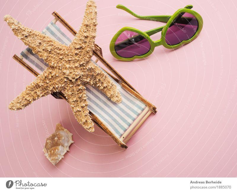 Ich brauch Urlaub ... Ferien & Urlaub & Reisen Sommer Strand Erholung Freude concept starfish view traveling holiday vacation sea sunglasses tropical leisure