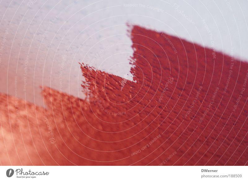 Anstrich schön weiß rot Arbeit & Erwerbstätigkeit Wand Makroaufnahme Mauer Linie Graffiti Raum Wohnung Design Fassade Lifestyle modern Dekoration & Verzierung