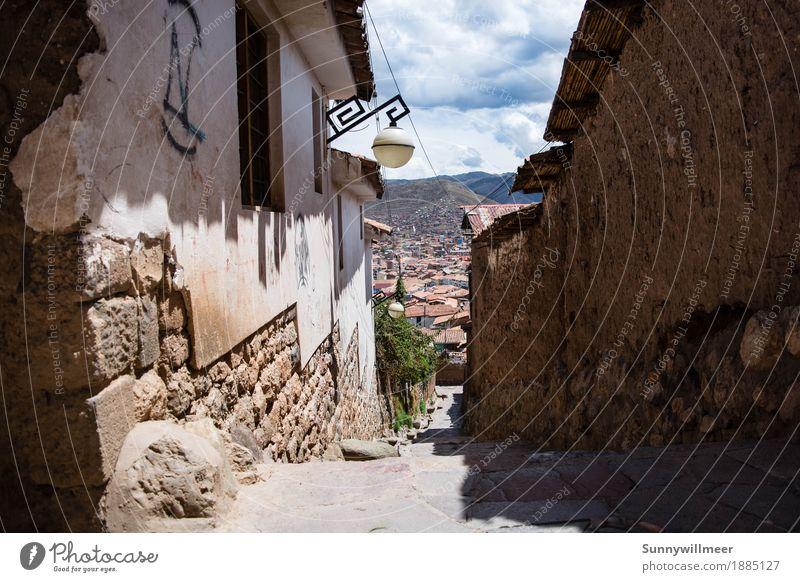 Cusuco Ferien & Urlaub & Reisen alt Stadt schön Haus Reisefotografie Architektur Wand Gebäude Mauer Fassade Treppe Bauwerk Peru Großstadt