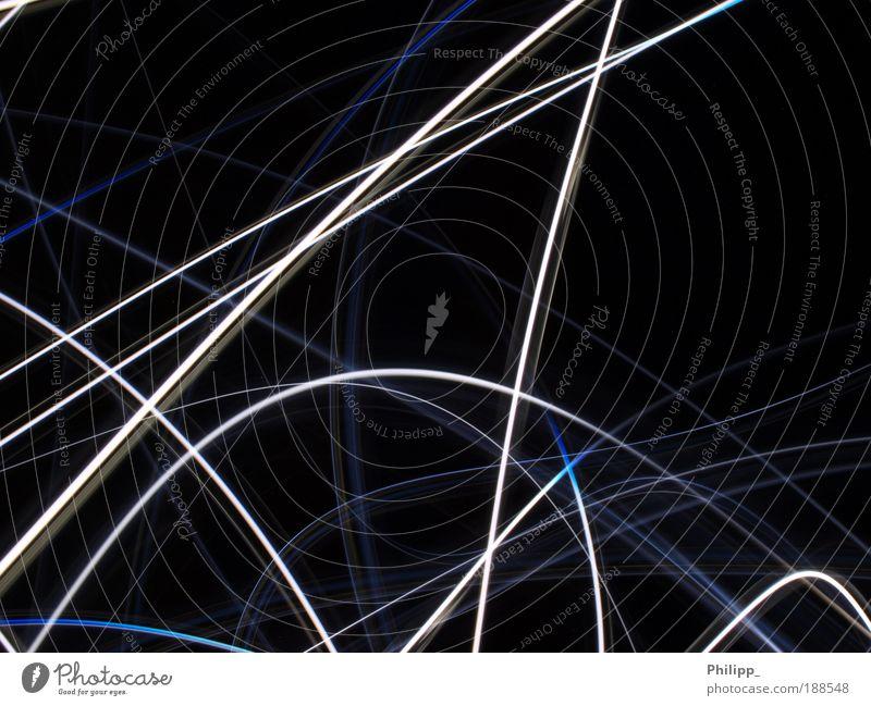 Lichtspuren 1.2 - (Serie) Ferne Bewegung Hintergrundbild leuchten Geschwindigkeit Zukunft Politische Bewegungen Netzwerk Irritation Lichtpunkt Lichtstreifen