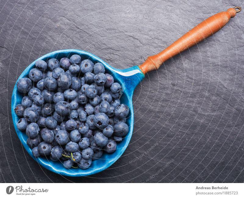 Heidelbeeren Frucht Ernährung Bioprodukte Vegetarische Ernährung Schalen & Schüsseln Sommer lecker süß blueberries fruit black food fresh healthy organic berry