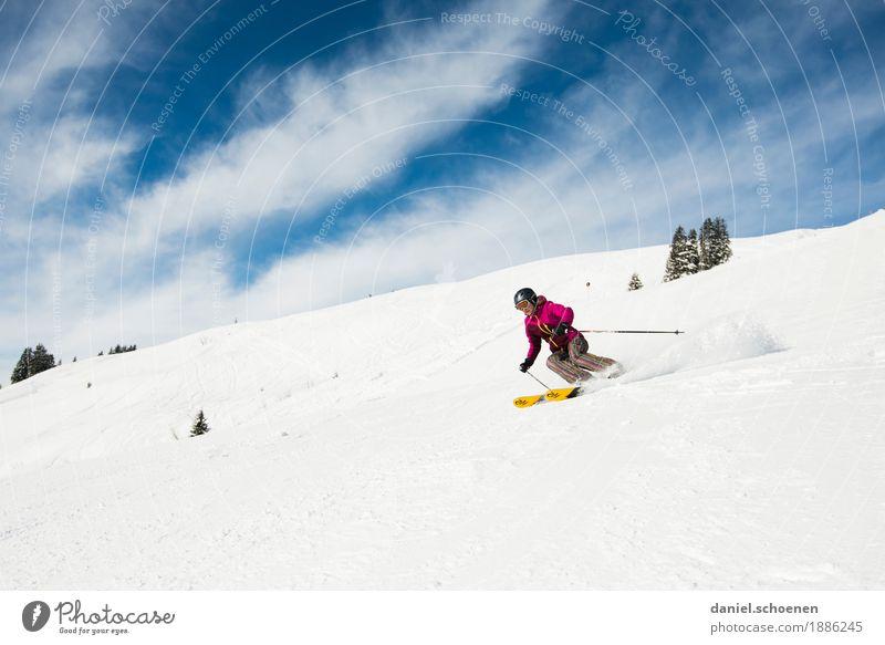 der nächste Winter kommt ... Mensch Ferien & Urlaub & Reisen Jugendliche Junge Frau Freude Berge u. Gebirge 18-30 Jahre Lifestyle Erwachsene feminin Gefühle