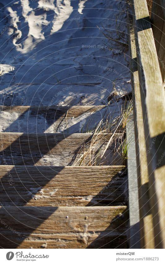 Strandleben III Natur ästhetisch Ostsee Ostseeinsel Sand Treppe Urlaubsfoto Urlaubsstimmung Wegrand Strandspaziergang Farbfoto Gedeckte Farben Außenaufnahme