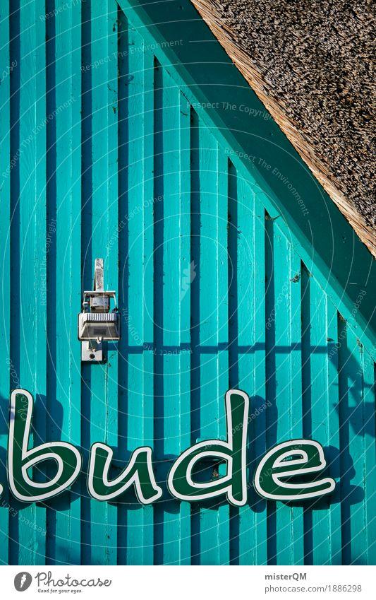Bude. Kunst Wohnung Schriftzeichen ästhetisch Ostsee Typographie Buden u. Stände Kiosk