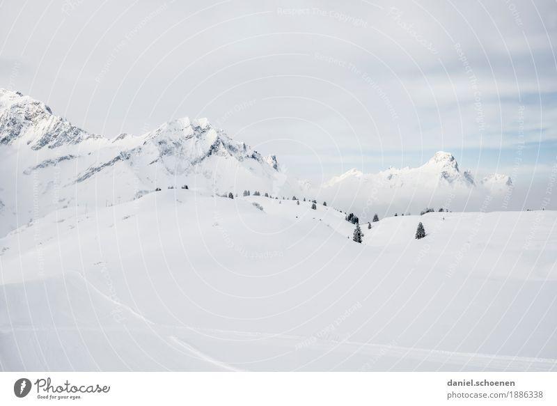 ganz schön hell Natur Ferien & Urlaub & Reisen weiß Landschaft ruhig Ferne Winter Berge u. Gebirge Umwelt Schnee Tourismus Eis Klima Frost Alpen