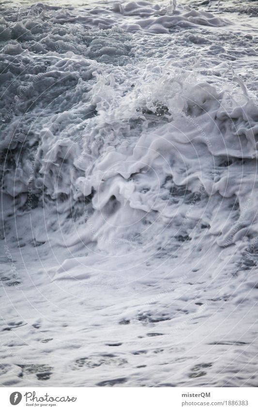 Atem der Erde. Kunst Kunstwerk ästhetisch Wasser Wassertropfen Wasseroberfläche Wasserfall Wassersport Wasserwirbel Wellen Wellengang Wellenschlag Wellenkamm